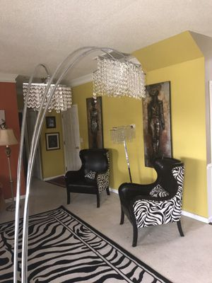 Two Crystal Floor Lamps for Sale in Greer, SC