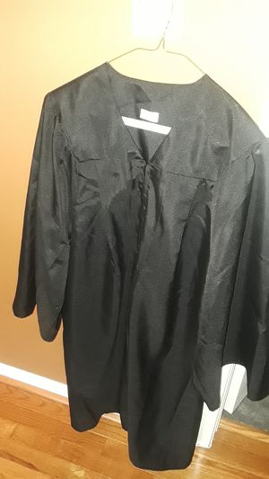 "Black 45"" Graduation Cap + Gown for Sale in Rockville, MD"