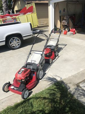 2 toro lawn mowers for price of 1 for Sale in Sacramento, CA