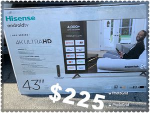 43 INCH HISENSE SMART TV ANDROID NEW 📺 ULTRA HD 4K for Sale in Anaheim, CA