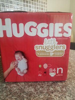 Newborn Huggies diapers for Sale in Carol Stream, IL