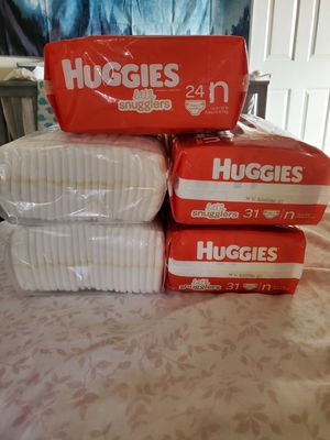 Huggies/pampers newborn diapers for Sale in Covina, CA