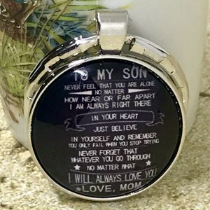 Inspirational To My Son Love Mom Keychain for Sale in Surveyor, WV