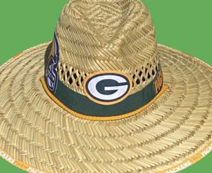 Green Bay Packers straw hat (Great Gift 🎁) Same Day Shipping If Paid By 3pm (I Also Have Other Team's) for Sale in Phoenix,  AZ