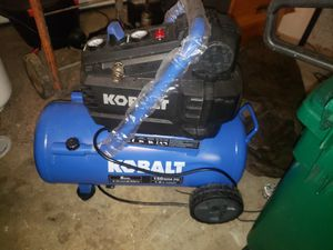 Kobalt Electric Horizontal Air Compressor 8-gallon Portable 150 Psi for Sale in Snohomish, WA