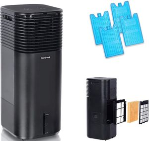 Honeywell 500 CFM Indoor Evaporative Tower Cooler with Fan, Black for Sale in Fountain Valley, CA