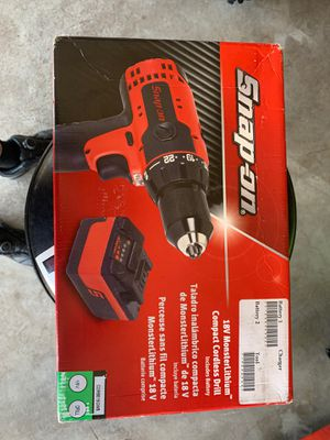 Snap on 18volt drill battery no charger for Sale in Lubbock, TX