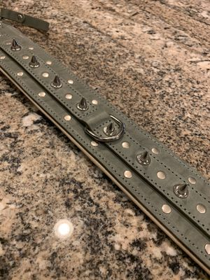 Gray spiked dog collar for Sale in Goodyear, AZ