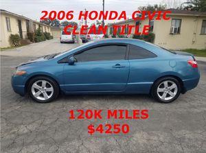 2006 HONDA CIVIC CLEAN TITLE for Sale in Santa Ana, CA