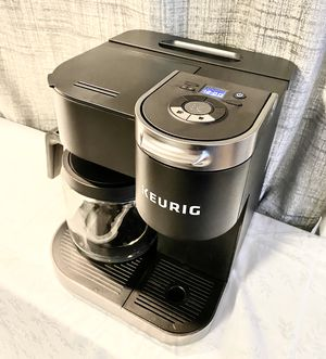 Keurig K-Duo Coffee Maker, Single Serve and 12-Cup Carafe Drip Coffee Brewer, Compatible with K-Cup Pods and Ground Coffee, Black for Sale in Las Vegas, NV