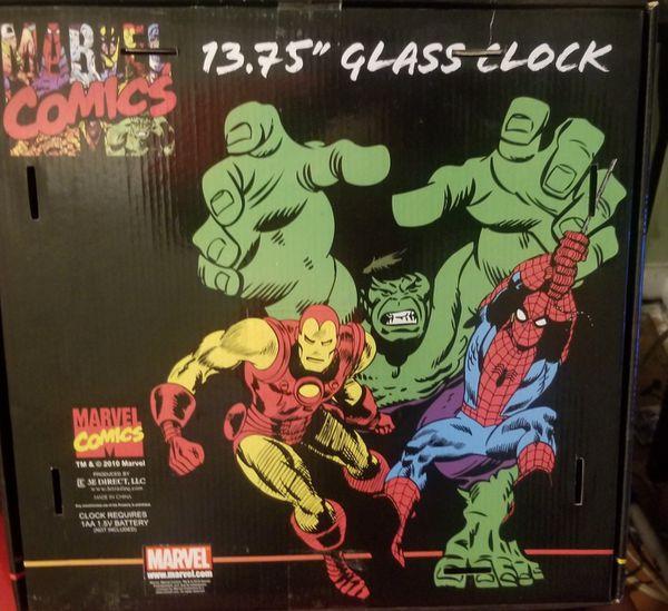 Marvel Comics Captain America Glass Clock13.75