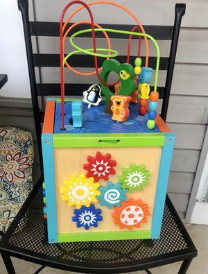 Kids Toddler Baby Wood Game Cube for Sale in Carol Stream, IL