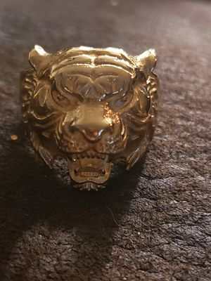 Gold toned mens tiger ring! for Sale in Rancho Cucamonga, CA
