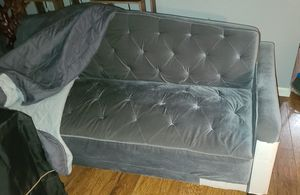 Vintage looking grey sleeper couch for Sale in Clovis, CA
