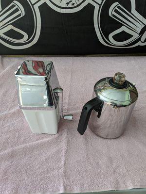 Farberware coffee percolator and Metrokane ice cube crusher for Sale in Port Charlotte, FL