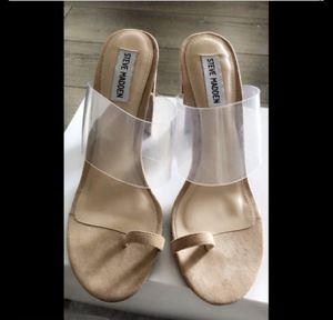 Steve Madden nude , clear heels for Sale in La Habra Heights, CA