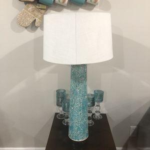 "Teal blue lamp 33"" for Sale in Atlanta, GA"