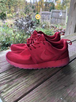 Nike Roshe Run size 9.5 - Red for Sale in Marlboro, NY