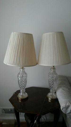New Beautiful 2 solid Chrystal lamps for Sale in Silver Spring, MD
