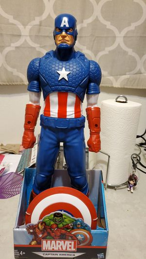 Marvel big fig captain america for Sale in Long Beach, CA