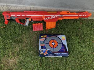 Nerf Centurion Mega Sniper Gun with darts and target for Sale in Miami, FL