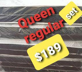 Queen Regular With Box Spring for Sale in Fresno,  CA