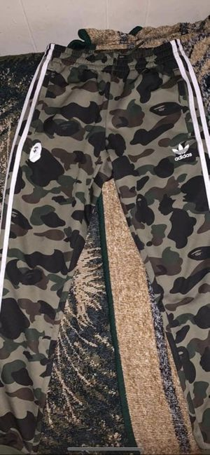 Bape x Adidas track pants for Sale in Chicago, IL
