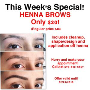 Henna brows for Sale in Cumming, GA