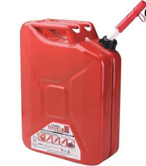 5-Gallon durable Metal Gas Can with Quick Flow Spout for Sale in Sioux Falls, SD