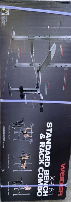 Weights XR 6.1 standard bench & rack combo for Sale in Covina, CA