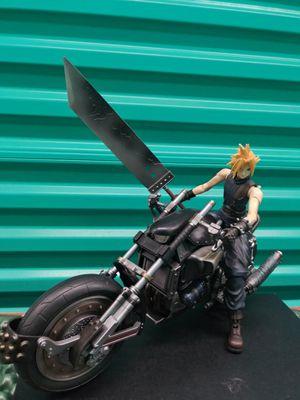 FF7 FFVII Square Enix Final Fantasy VII Cloud Strife & Hardy Daytona Action Figure Set for Sale in Centreville, VA