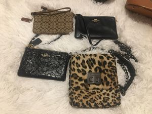 3 Coach wristlets & BCBG crossbody for Sale in Colorado Springs, CO
