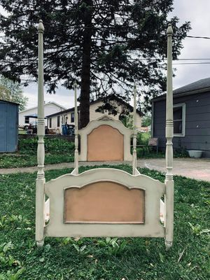 Vintage Farmhouse / Shabby Chic Twin Size Bed Frame Distressed for Sale in Joliet, IL