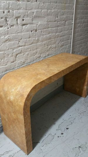 Karl springer like console table with drop oil finish for Sale in Brooklyn, NY