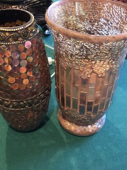 Two Shiny and sparkly Flower Vases for Sale in Alexandria,  VA
