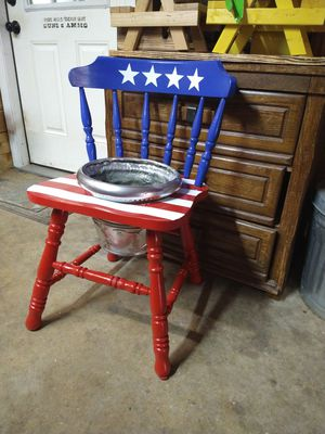 Custom made american flag flower pot chair for Sale in Roman Forest, TX