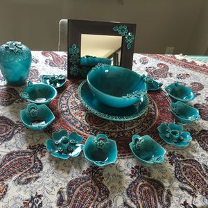 Brand new set of blue dishes for Persian 7 Sien ceremony for $600 for Sale in Falls Church, VA