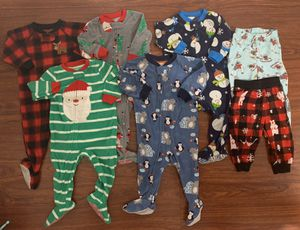 Baby Boy Holiday PJ Lot 12 months (7pc) $15 for Sale in San Jose, CA