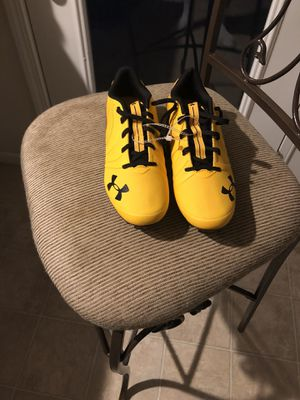 Under Armour Nitro Black and Gold Football Cleats for Sale in Saint Robert, MO
