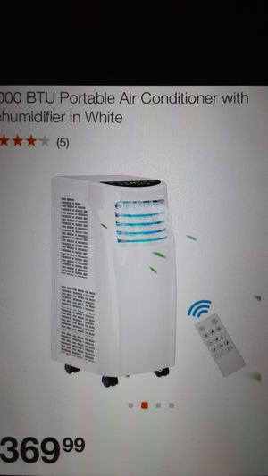8,000 BTU Portable Air Conditioner with Dehumidifier in White 2 Available for Sale in Bakersfield, CA