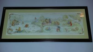 Framed Beatrix Potter Characters Print: Peter Cottontail, Jemima Puddle Duck, and Friends for Sale in Hampton, VA