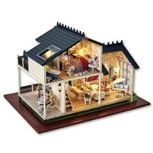 Gifts New Brand DIY Doll Houses Wooden Doll House Unisex dollhouse Kids Toy Furniture Miniature crafts free shipping A032 for Sale in Bethesda, MD