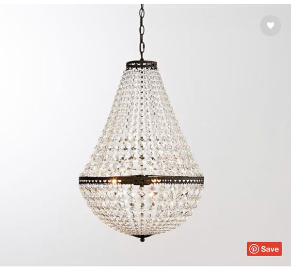 Pottery Barn Mia Faceted-Crystal Chandelier
