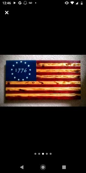 Hand Crafted Wooden American Flag for Sale in Summerville, SC