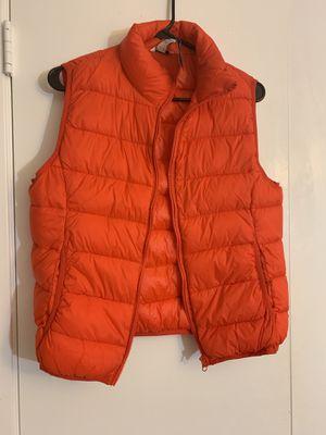 Orange puffer vest women's medium for Sale in San Diego, CA
