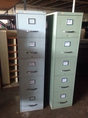 Two 5 drawer filing cabinets for Sale in Caledonia, MI