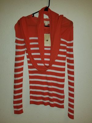 *NEW* Michael Kors Papaya long sleeve top M for Sale in Garland, TX