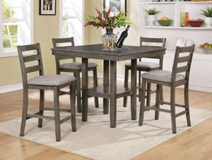 Brand New Counter Height 5-piece Grey Dinette for Sale in Linthicum Heights, MD