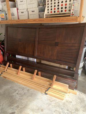 Wood King bed frame for Sale in Cottleville, MO