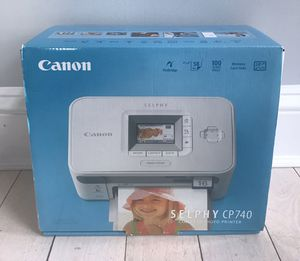 NEW Canon SELPHY CP740 Digital Photo Printer Compact Printer NO CD ROM for Sale in Blackstone, MA